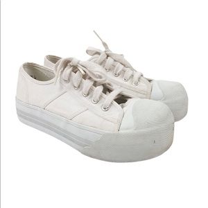 Vintage 1999 white City Sneaks platform sneakers